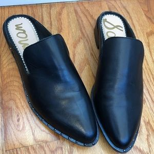 Sam Edelman Black Leather Lewellyn Mule Size 8